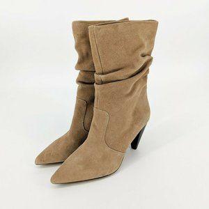 Kensie Kenley Tan Brown Suede Slouch MidCalf Boots